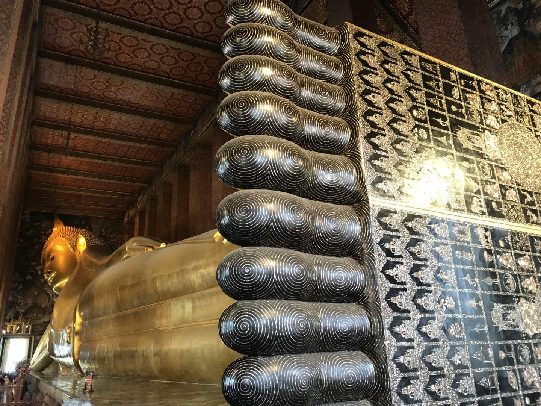 templo del buda reclinado - la cadena viajera