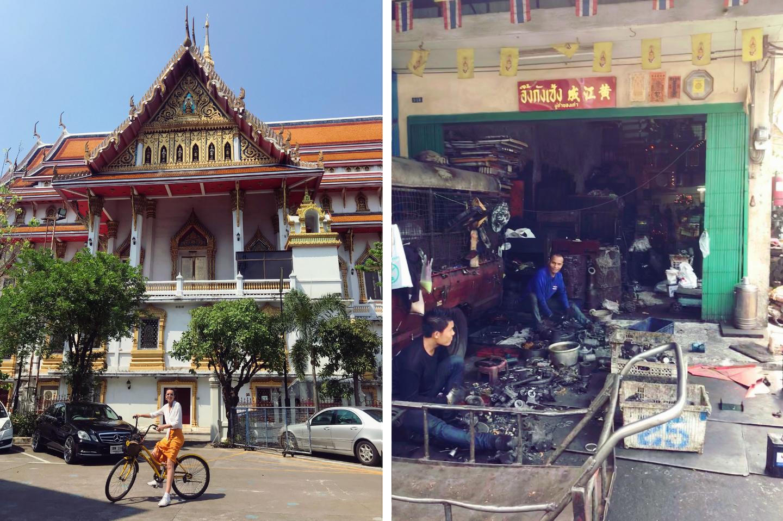 tour bicicletas en bangkok - la cadena viajera