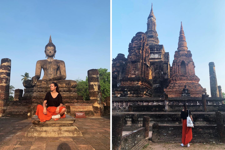 templos del parque historico de sukhotai - la cadena viajera